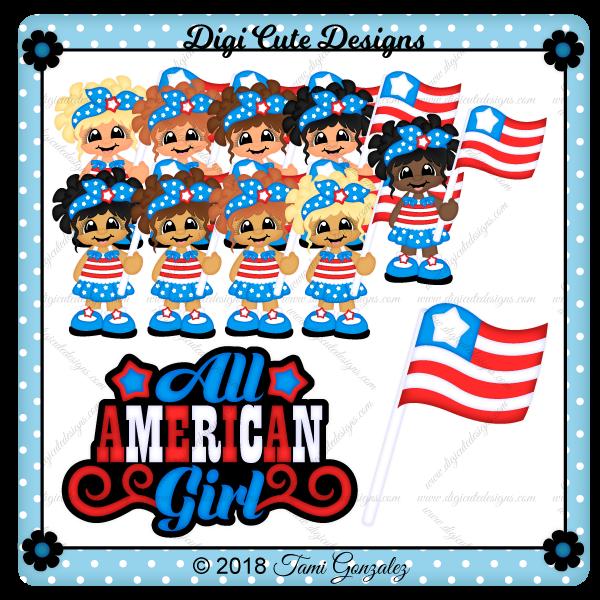 All American Girl Clip Art