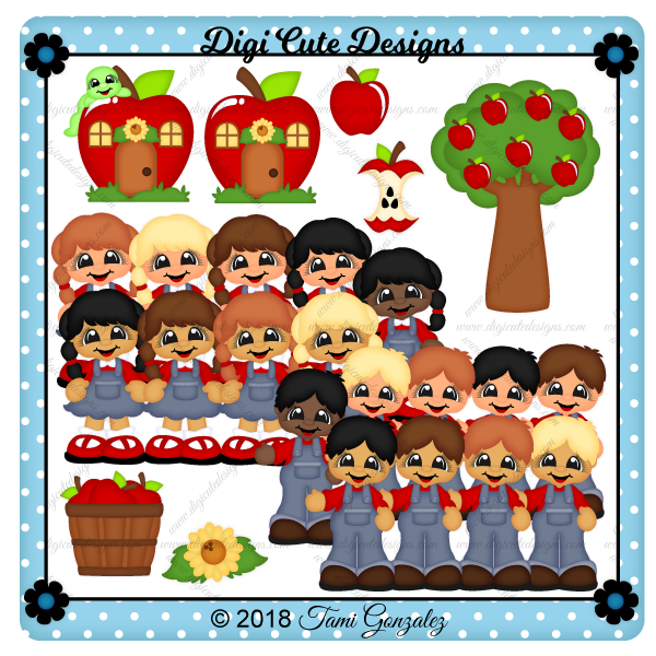 Apple Cuties Clip Art