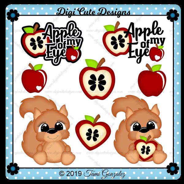 Apple Squirrel Clip Art