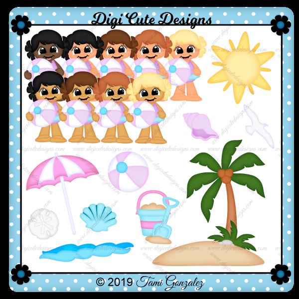 Beach Girl Clip Art