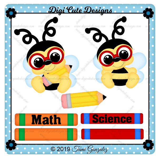 Bee Smart Clip Art