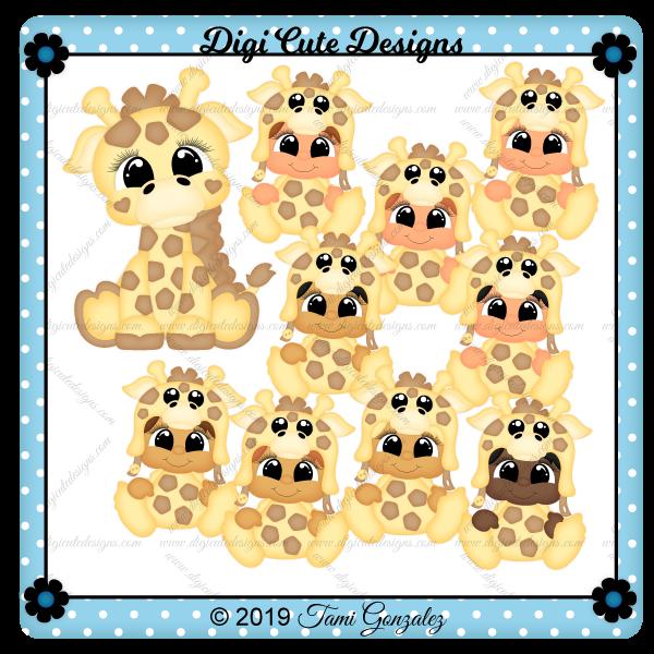 Besties - Giraffe Clip Art