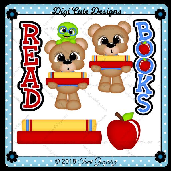 Book Bear Clip Art