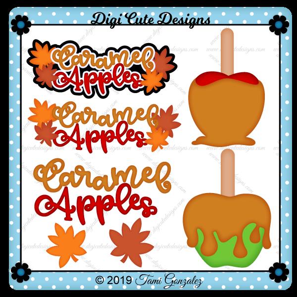Caramel Apples Clip Art