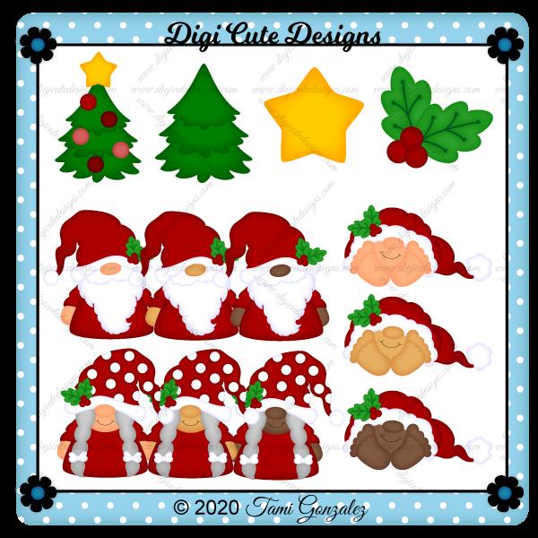 Christmas Gnome Family Clip Art