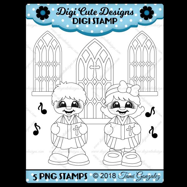 Church Choir Cuties Digi Stamp