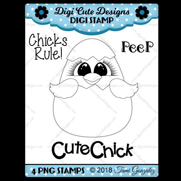 Cute Chick Digi Stamp
