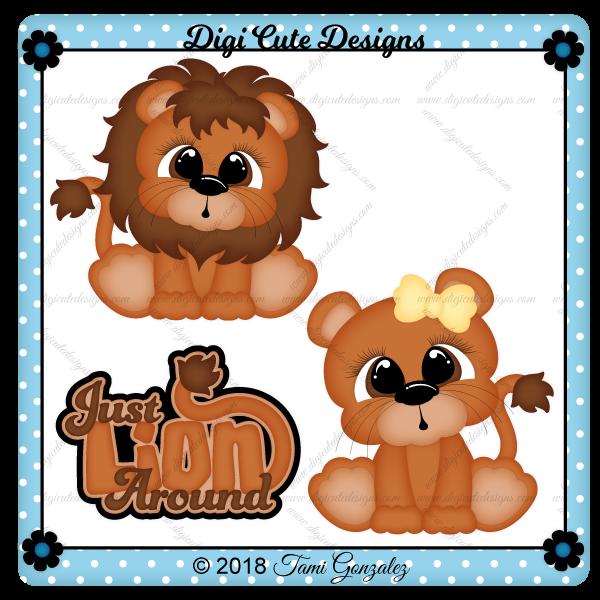 Cute Lions Clip Art