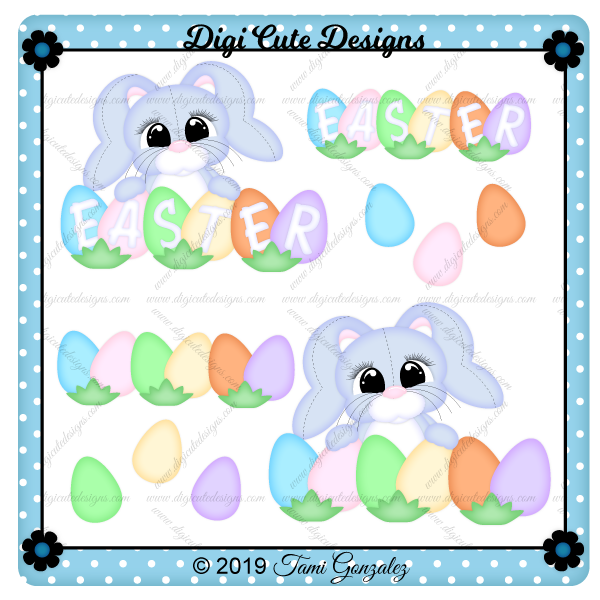 Easter Egg Bunny Clip Art