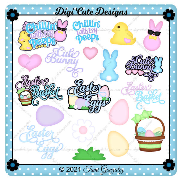 Easter Titles Clip Art