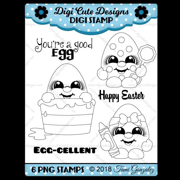 Egg Cuties Digi Stamp