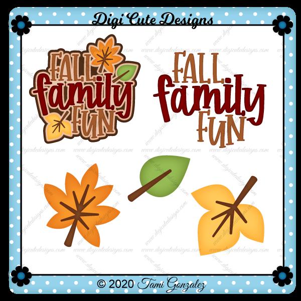 Fall Family Fun Title Clip Art