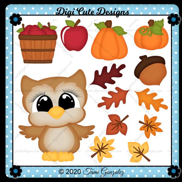Fall Owl Clip Art
