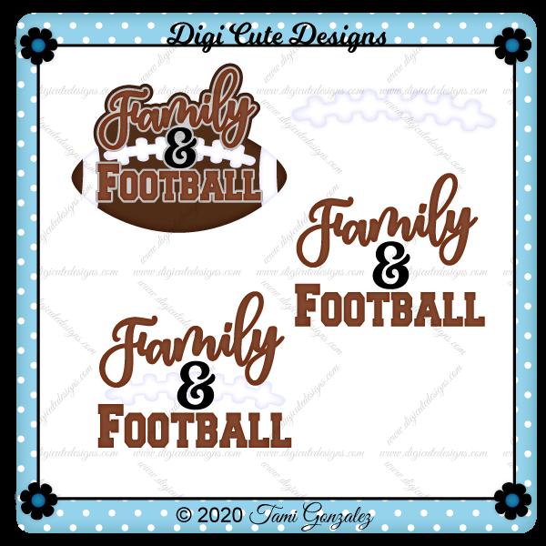 Family & Football Title Clip Art