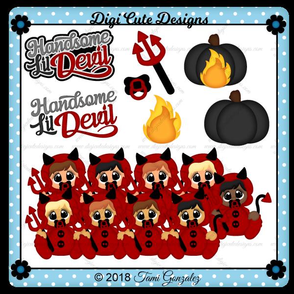 First Halloween - Devil Clip Art