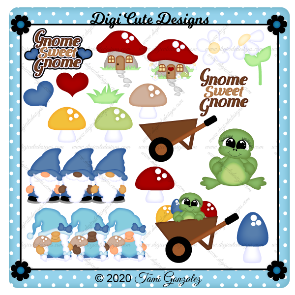 Gnome Sweet Gnome Clip Art