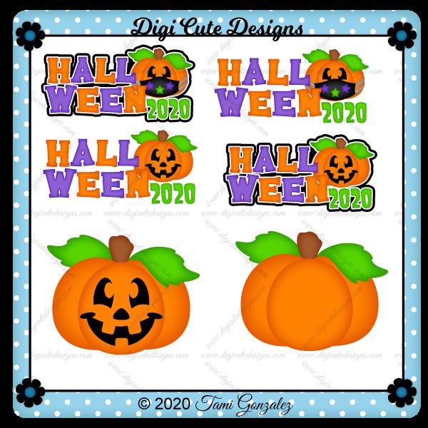 Halloween 2020 Title Clip Art