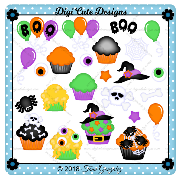 Halloween Cupcakes Clip Art