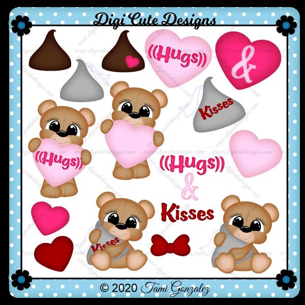 Hugs & Kisses Clip Art