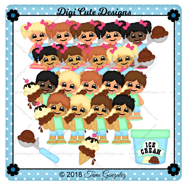 Ice Cream Cuties Clip Art