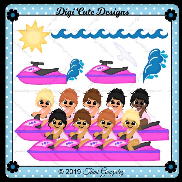 Jet Ski Girl Clip Art