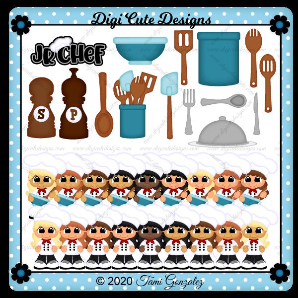 Jr Chef - Girl Clip Art
