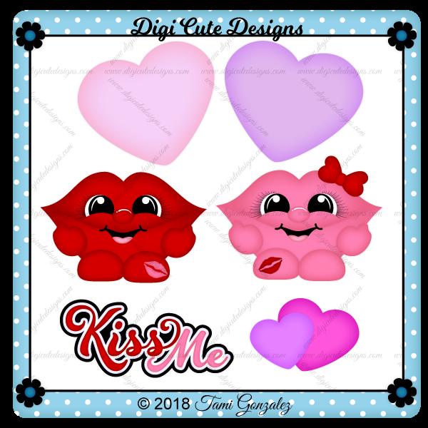 Kiss Cuties Clip Art