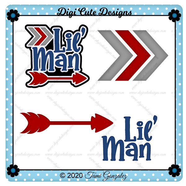 Lil' Man Title Clip Art