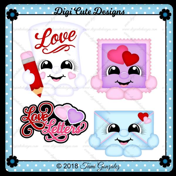 Love Letter Cuties Clip Art