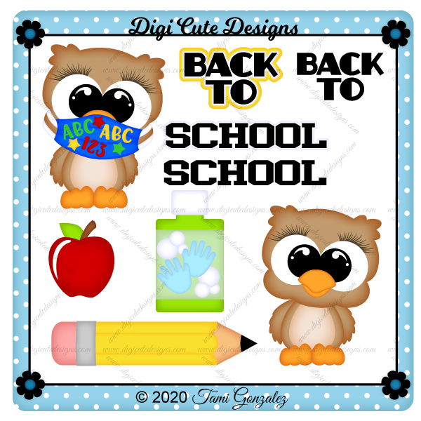 Masked School Owl Clip Art