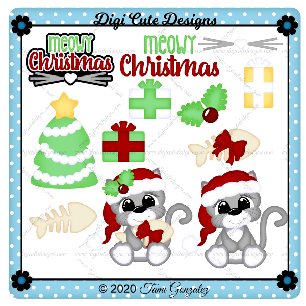 Meowy Christmas Clip Art