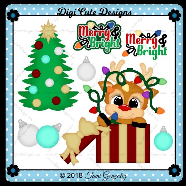 Merry & Bright Clip Art