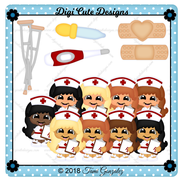 Nurse Cutie Clip Art