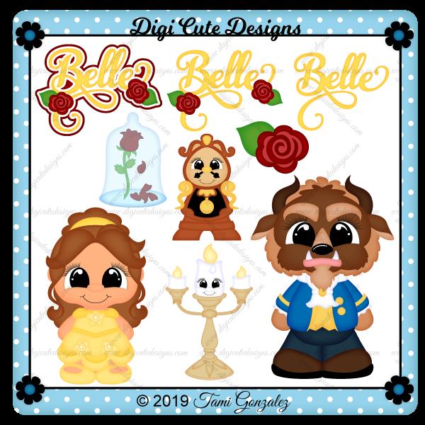 Princess Belle Clip Art