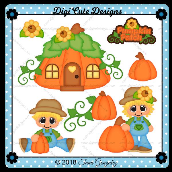 Pumpkin Patch Cuties Clip Art