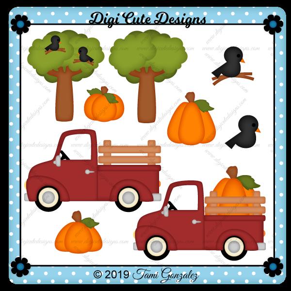Pumpkin Truck Clip Art