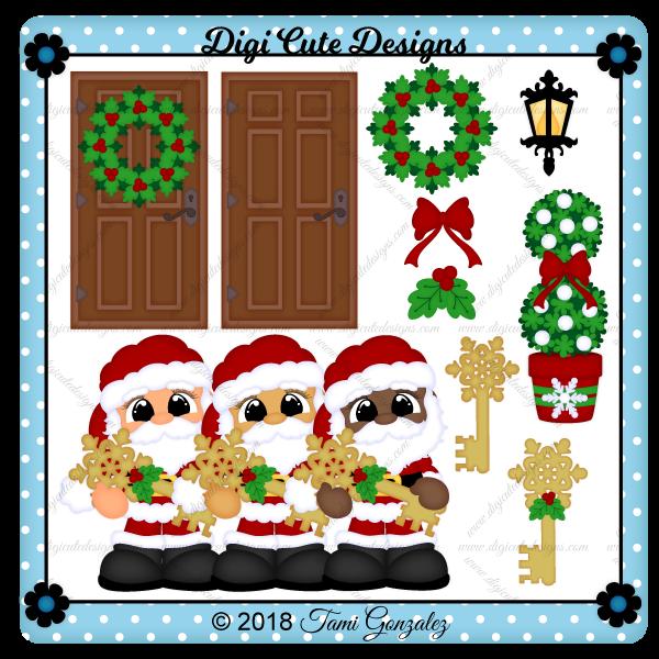 Santa's Magic Key Clip Art