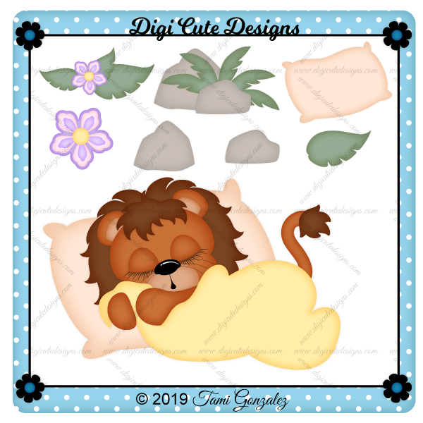Sleeping Lion Clip Art