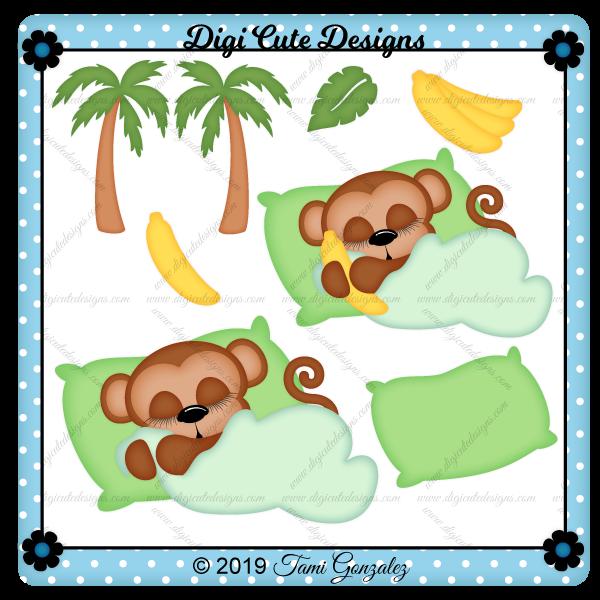 Sleeping Monkey Clip Art
