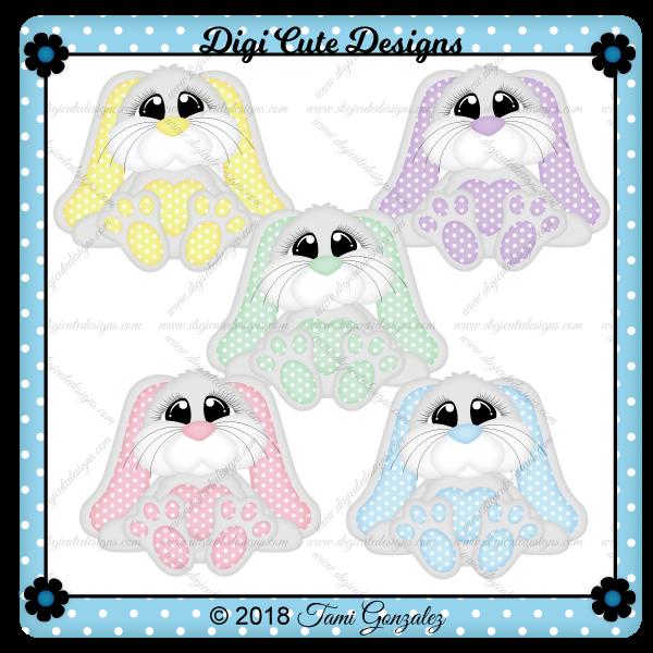 Snuggle Bunnies Clip Art