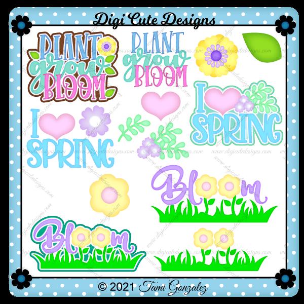 Spring Titles Clip Art
