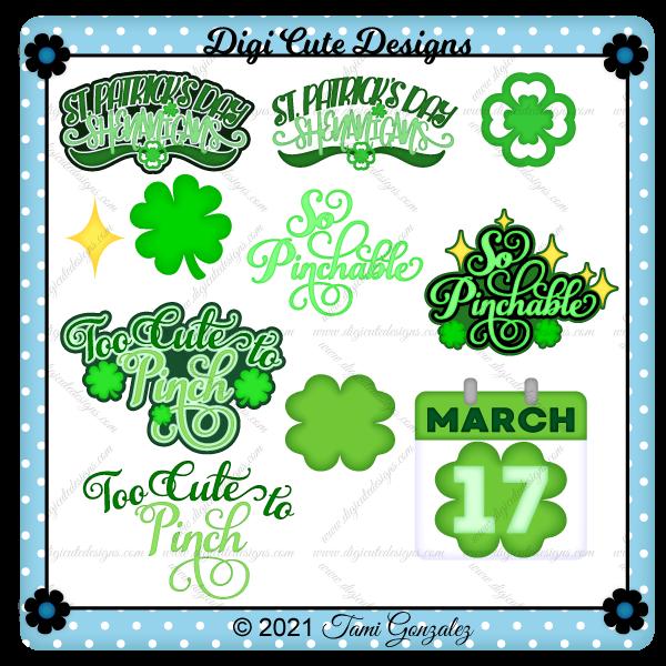 St Patrick's Day Titles 1 Clip Art