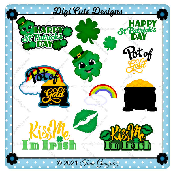 St Patrick's Day Titles 2 Clip Art