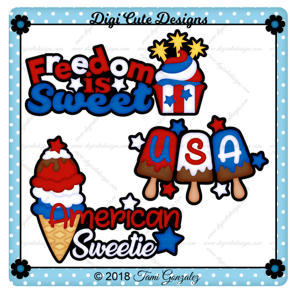Sweet 4th Titles Clip Art