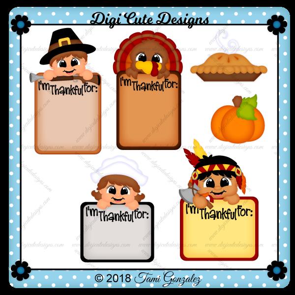 Thankful Journal Cards Clip Art