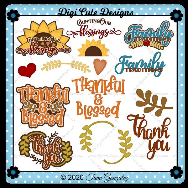 Thankful Titles Clip Art