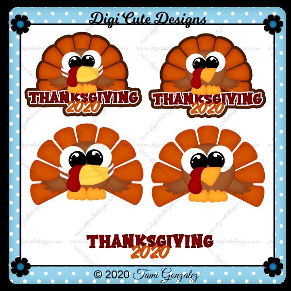 Thanksgiving 2020 Title Clip Art