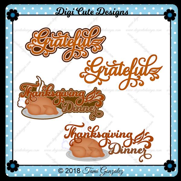 Thanksgiving Titles Clip Art