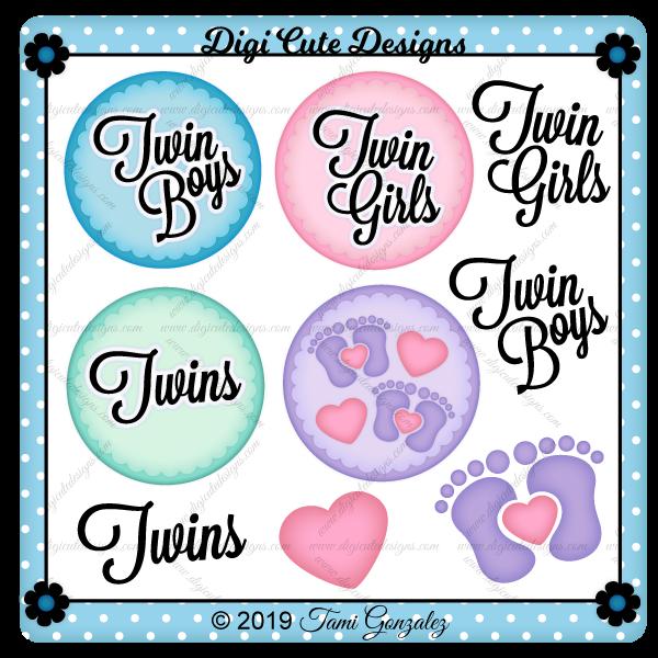 Twin Tokens Clip Art