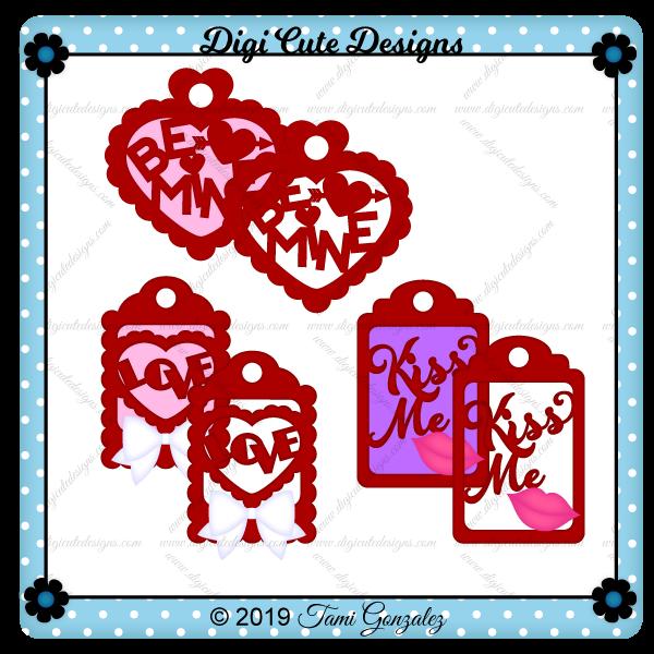 Valentine Tags Clip Art